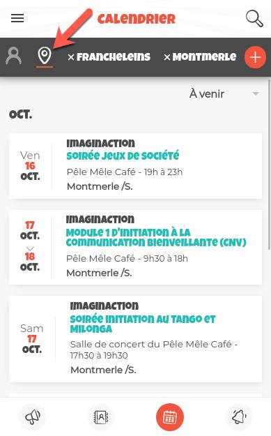 Exemple de calendrier des communes suivies