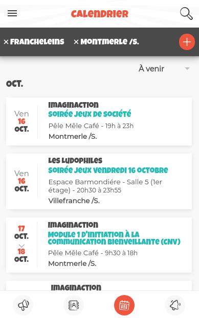 Exemple calendrier sans lien