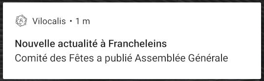 Exemple de notification d'une actualité sur Android