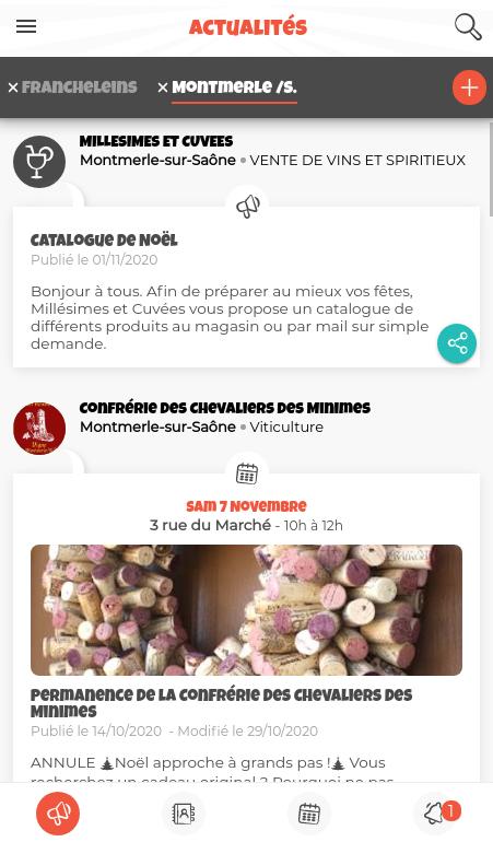 Exemple d'actualités à Montmerle